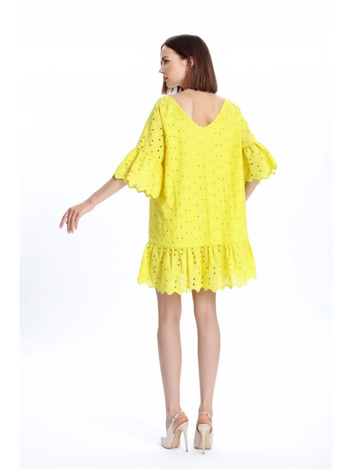 Oversize Sarı Elbise