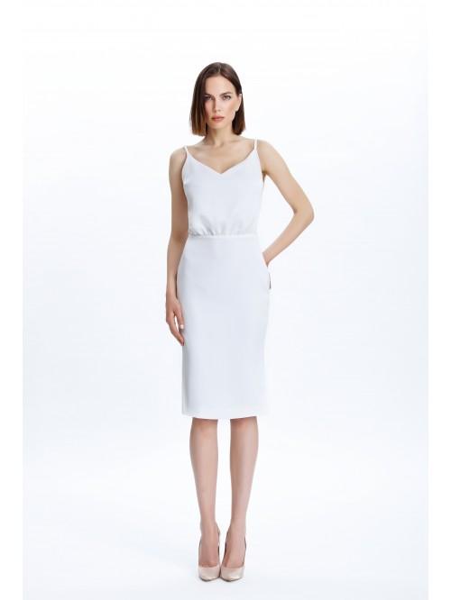 Beyaz Bluzan Elbise