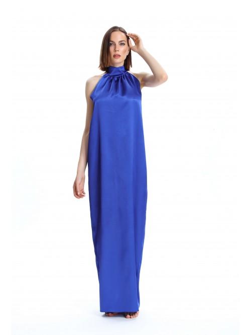 Yakası Büzgülü  Elbise