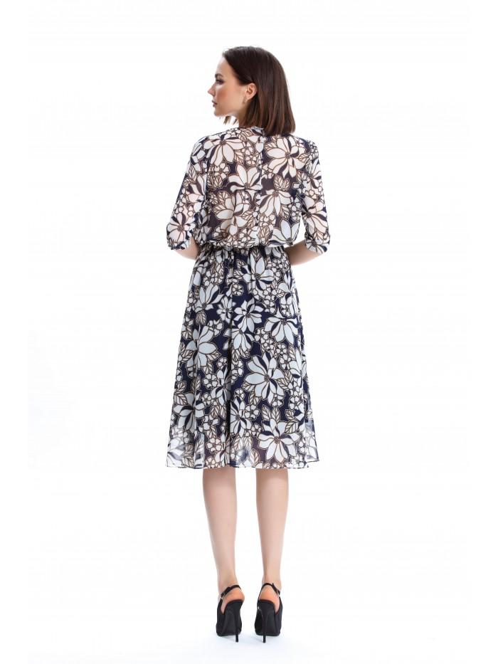 Çiçek Desenli Bluzan Elbise