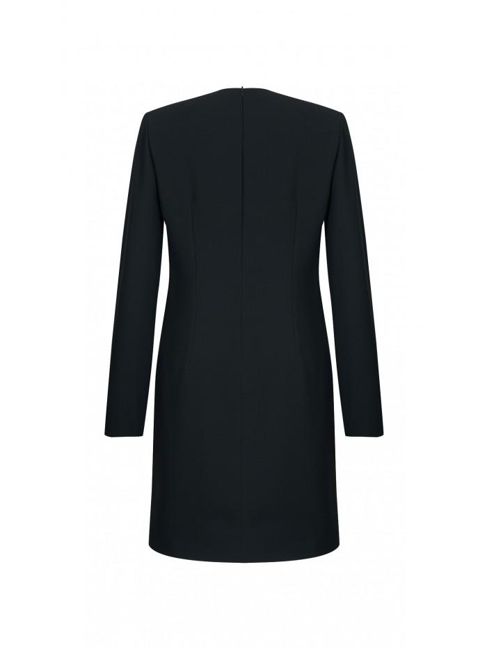 Uzun Kollu İnci Detaylı Elbise