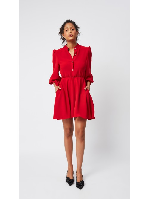 Kırmızı Cepli Elbise