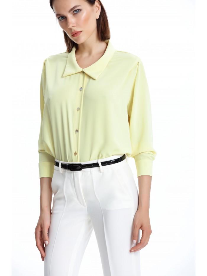 Krep Sarı Gömlek